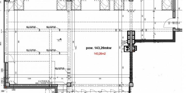rzut 2 piętra Lokal na wynajem Wrocław Krzyki pod usł. medyczne