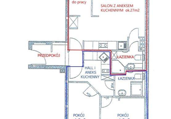 Rzut mieszkania przy ul.Asfaltowej